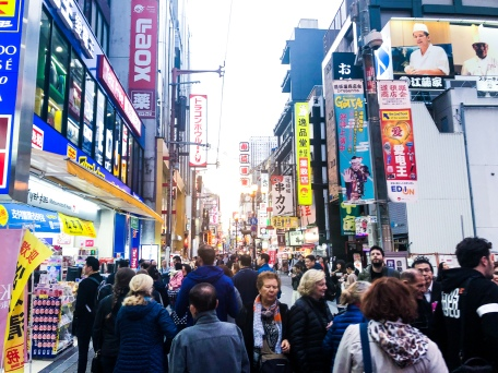 Walking the streets of Osaka, Japan