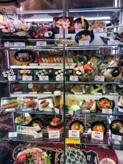 Fake food display in Osaka, Japan