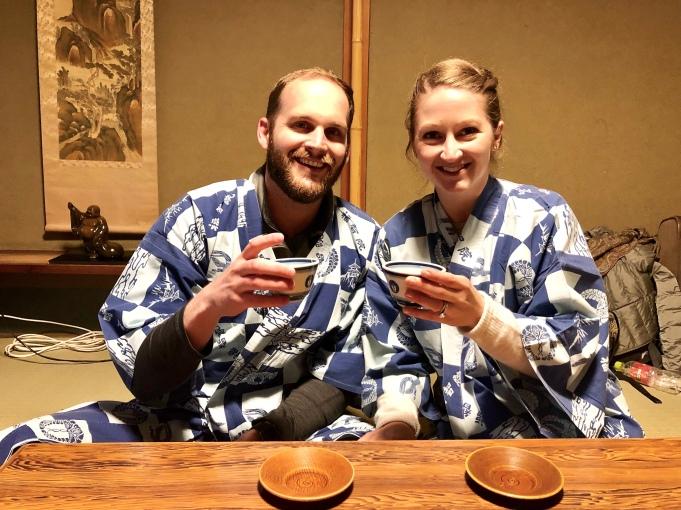 Tea time at Koyasan Onsen Fuchin, Mt. Koya Japan