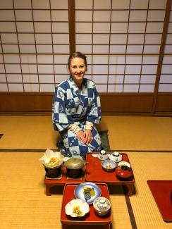 Our monk style dinner at Koyasan Onsen Fuchin, Mt. Koya Japan