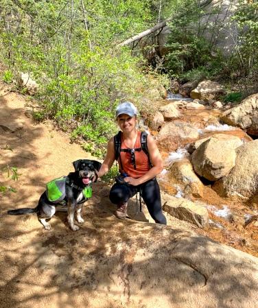 Hiking on 7 Bridges Trail in Colorado Springs
