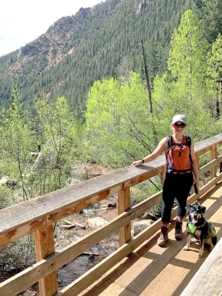 Hiking on 7 Bridges Trail in Colorado Springs