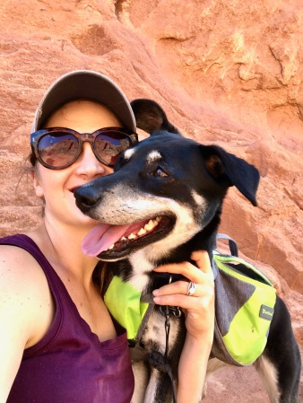 Hiking with the dogs through Garden of the Gods in Colorado Springs